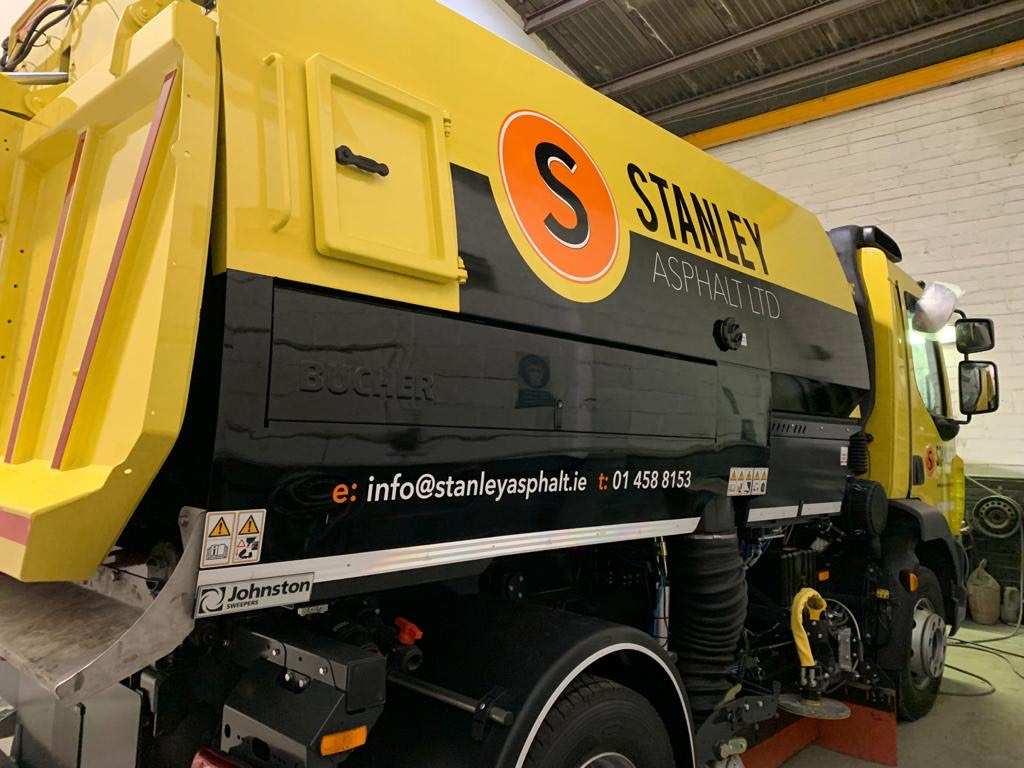 Stanley Asphalt Sweeper Graphics
